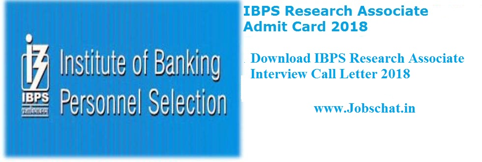 IBPS Research Associate Call Letter