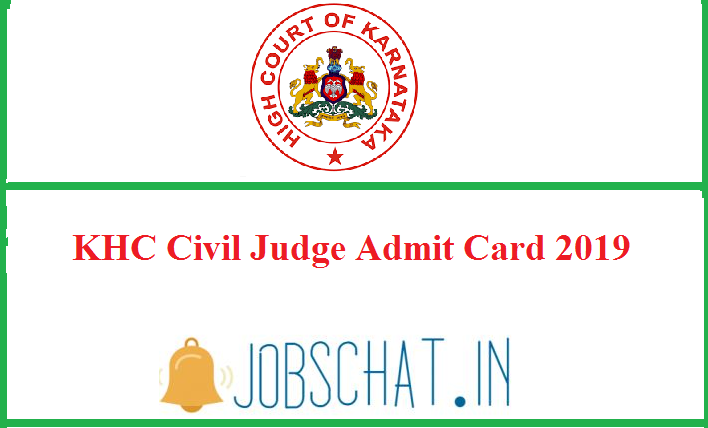 KHC Civil Judge Admit Card 2019