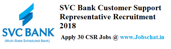 SVC Bank CSR Recruitment