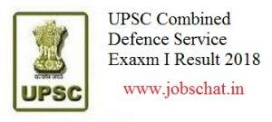 UPSC CDS I Result
