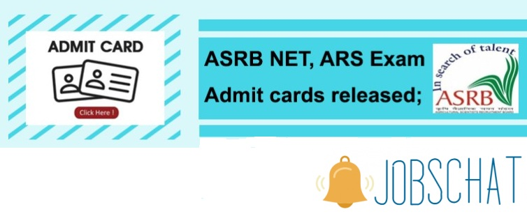ASRB ARS NET Admit Card