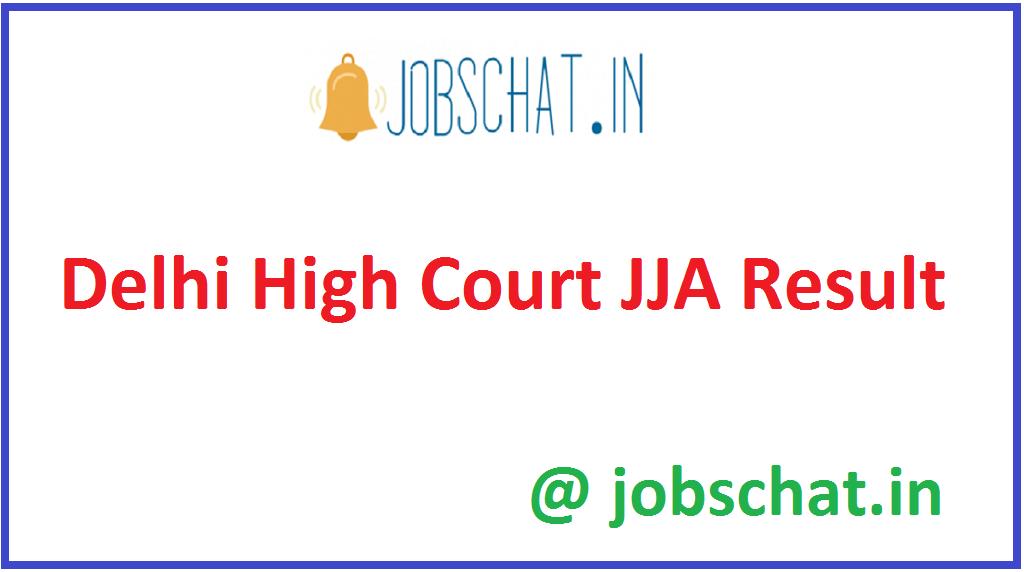 Delhi High Court JJA Result