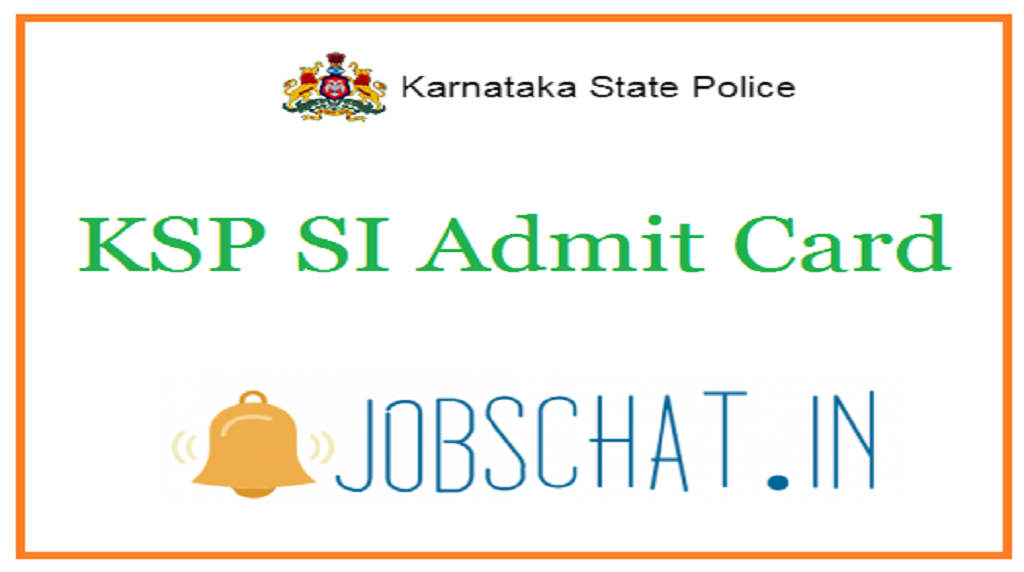 KSP SI Admit Card