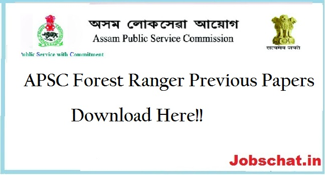 APSC Forest Ranger Previous Papers