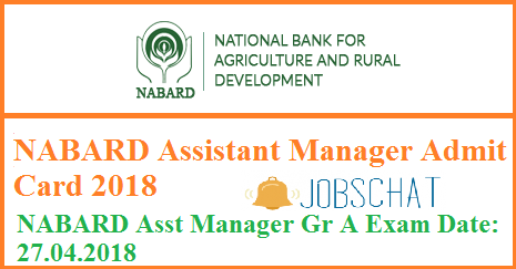 NABARD Assistant ManagerAdmit Card