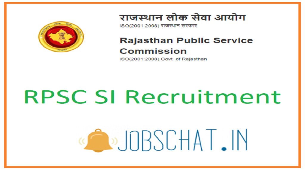 RPSC SI Recruitment