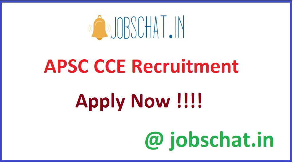 APSC CCE Recruitment