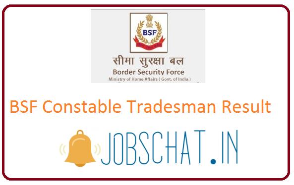 BSF Constable Tradesman Result