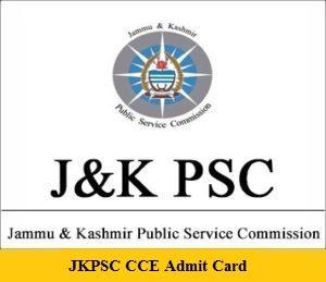 JKPSC CCE Admit Card