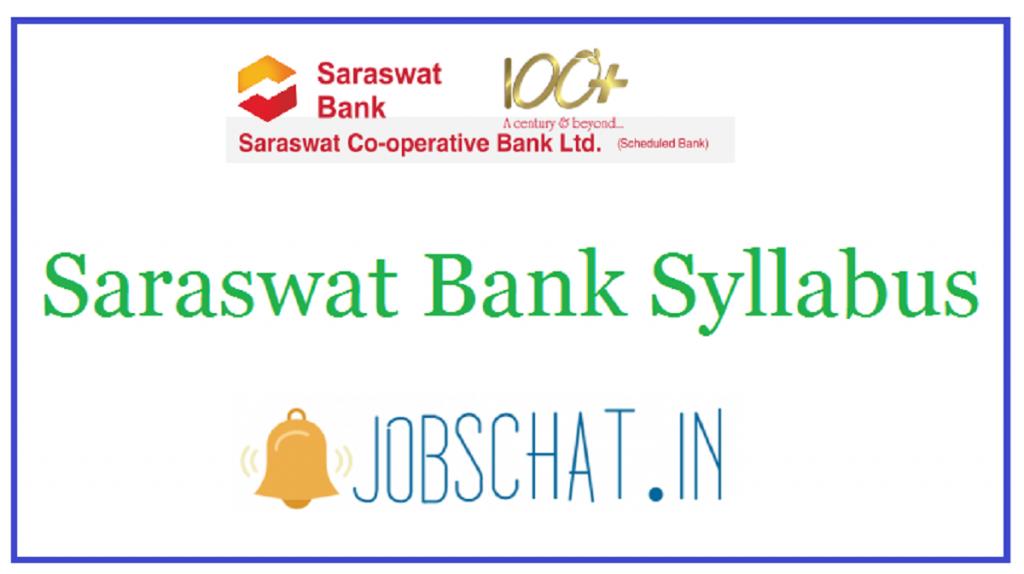 Saraswat Bank Syllabus