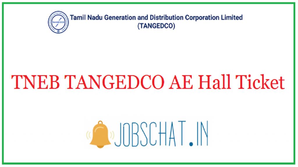 TNEB TANGEDCO AE Hall Ticket