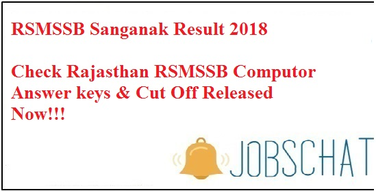 RSMSSB Sanganak Result