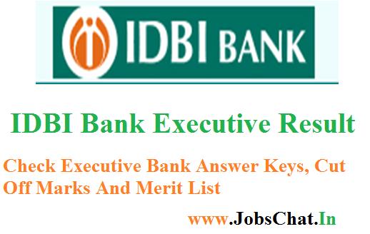IDBI Bank Executive Result