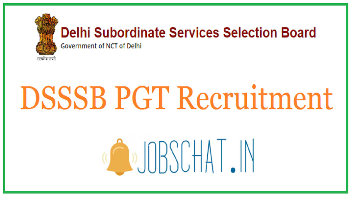 DSSSB PGT Recruitment