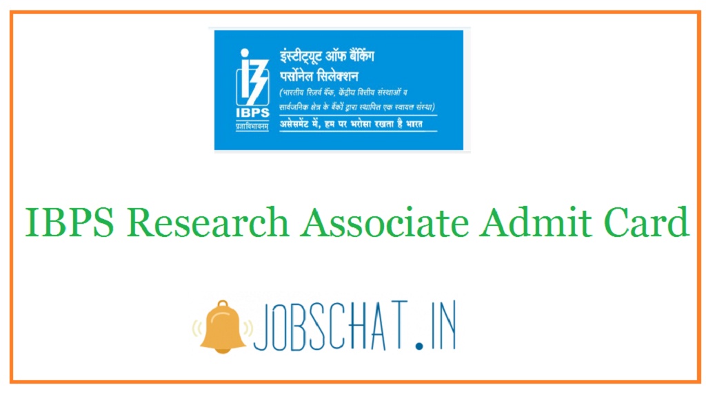 IBPS Research Associate Admit Card