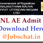 RVUNL AE Admit Card 2018 | Download Rajasthan RVUNL Assistant Engineer (AE or AEN) Exam Dates and Hall Tickets @ energy.rajasthan.gov.in
