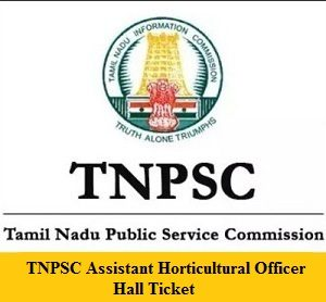 TNPSC AHO Hall Ticket