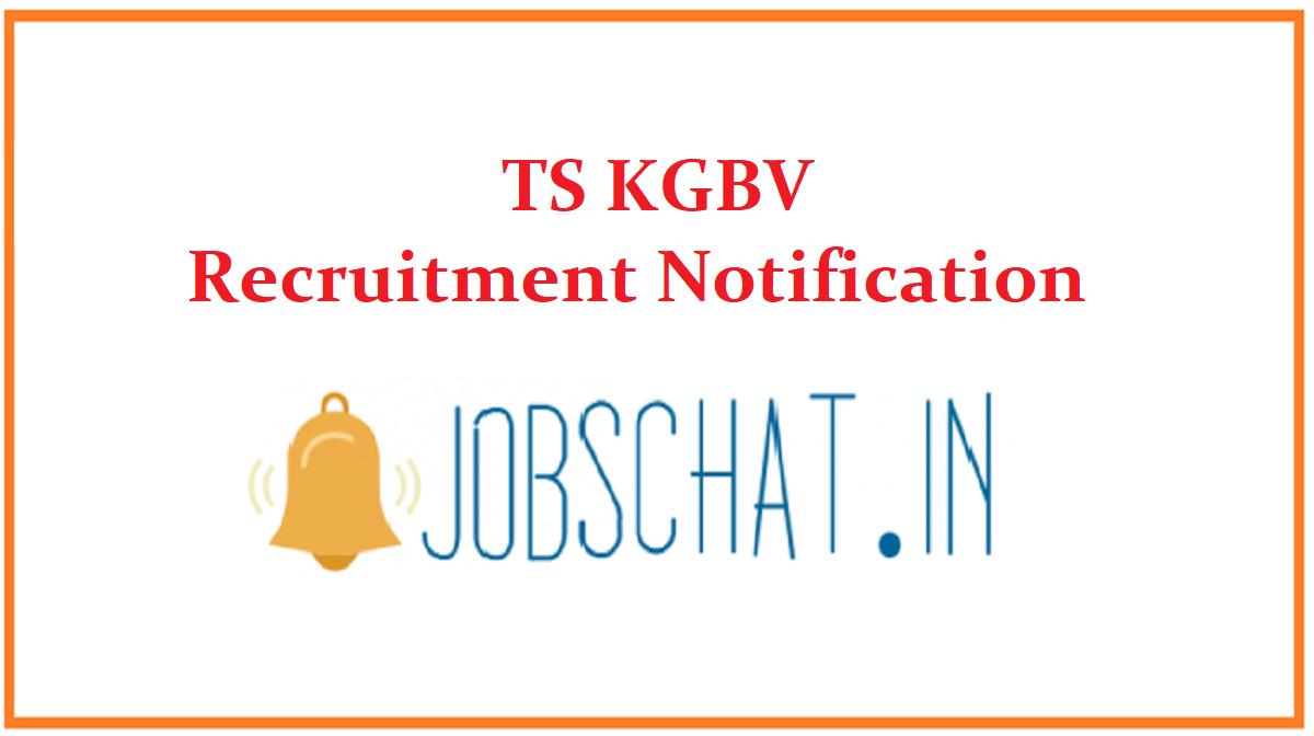 TS KGBV Recruitment Notification