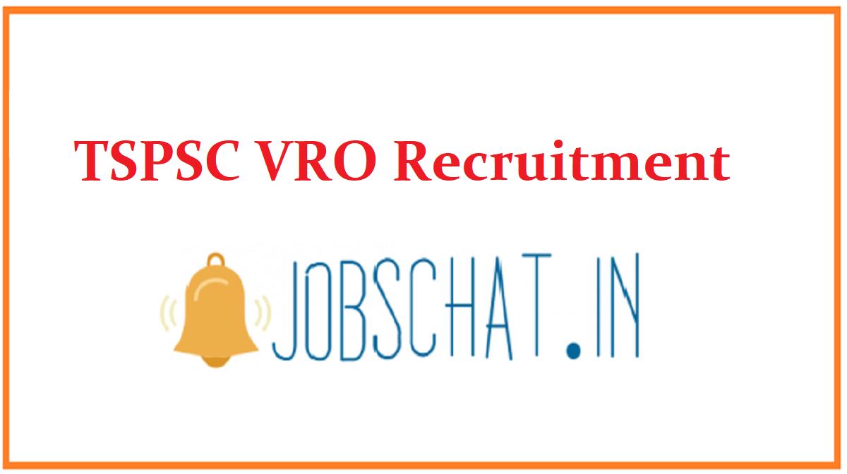TSPSC VRO Recruitment