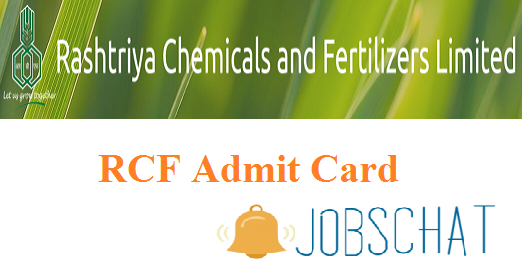 RCF Management Trainee Admit Card