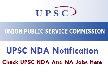 UPSC NDA Notification