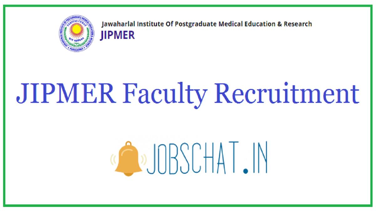 JIPMER Faculty Recruitment