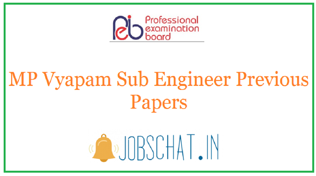 MP Vyapam Sub Engineer Previous Papers