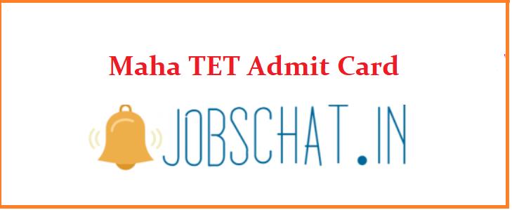 Maha TET Admit Card