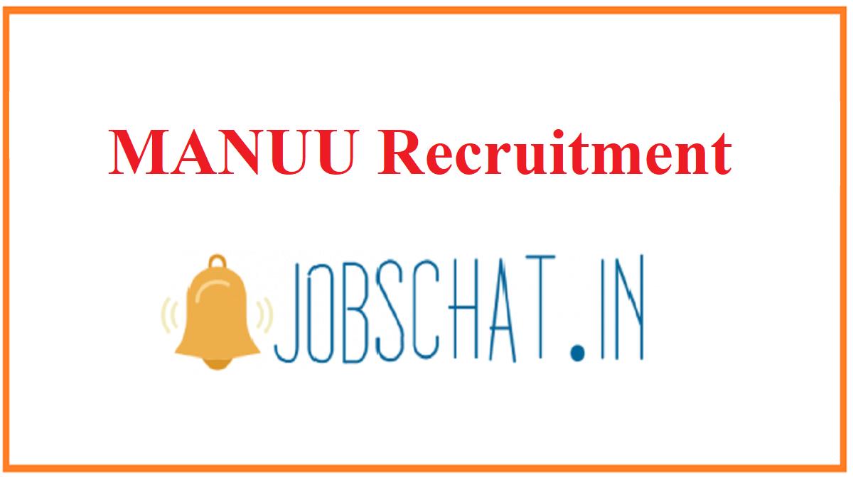 MANUU Recruitment