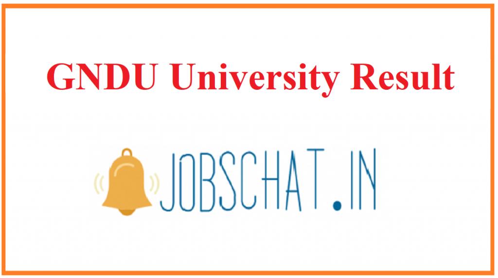 GNDU University Result