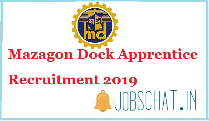 Mazagon Dock Apprentice Recruitment 2019