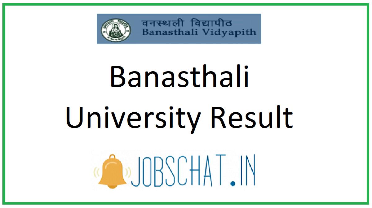 Banasthali University Result