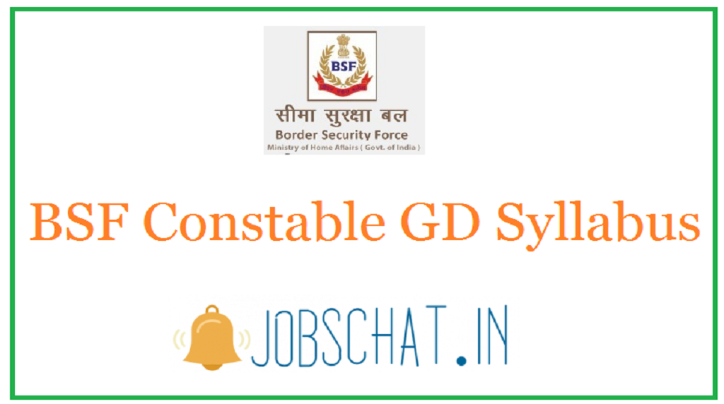 BSF Constable GD Syllabus