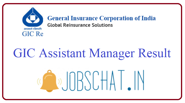 GIC Assistant Manager Result