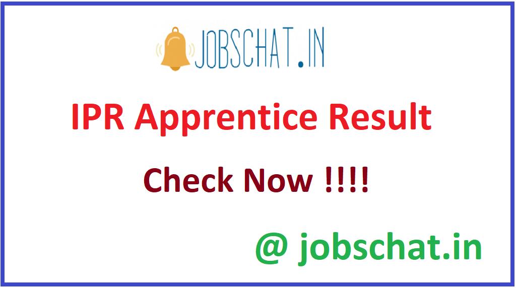 IPR Apprentice Result