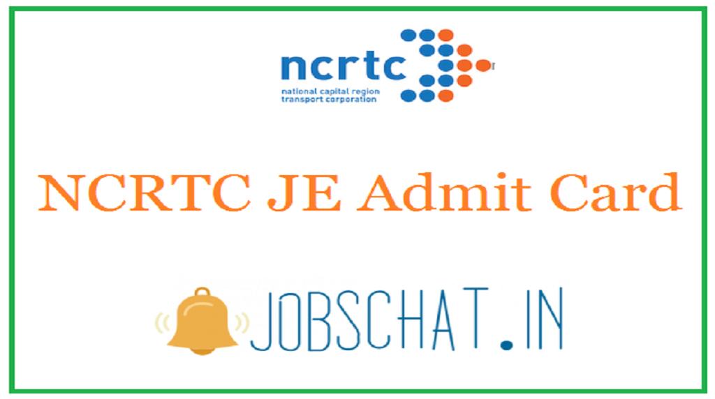 NCRTC JE Admit Card