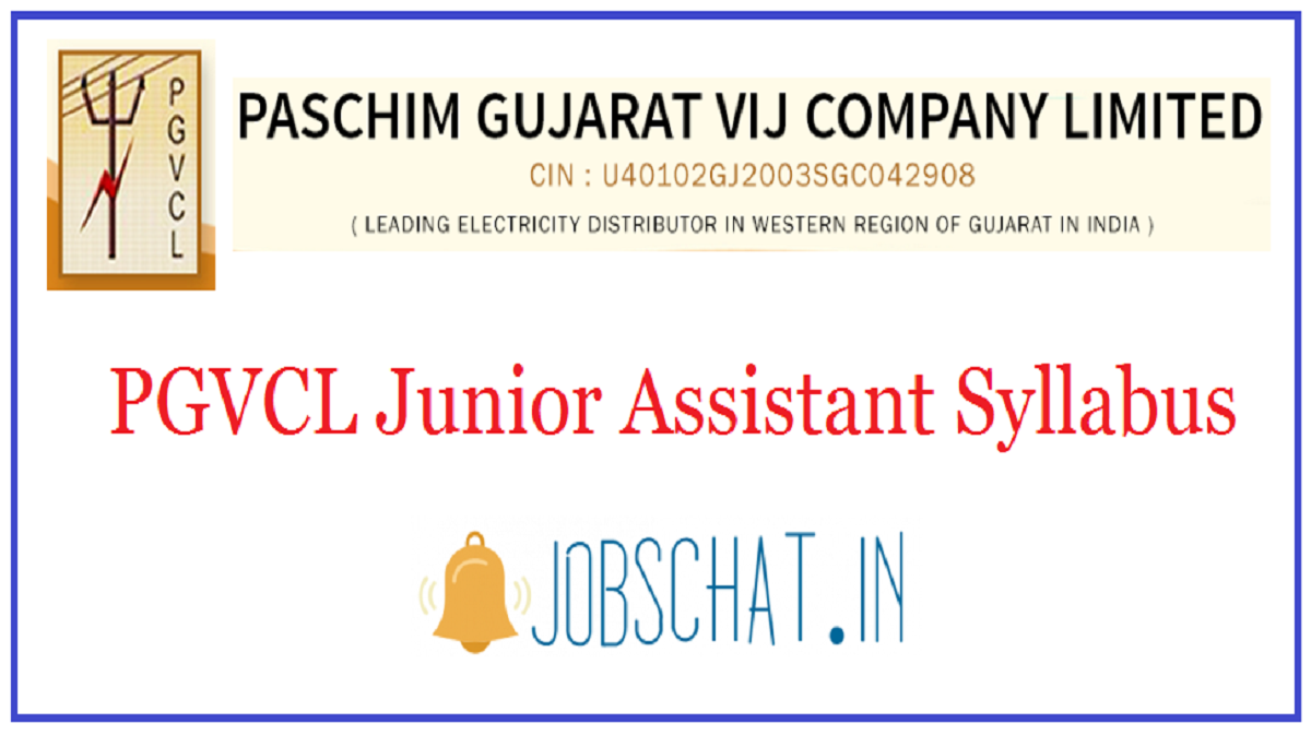 PGVCL Junior Assistant Syllabus