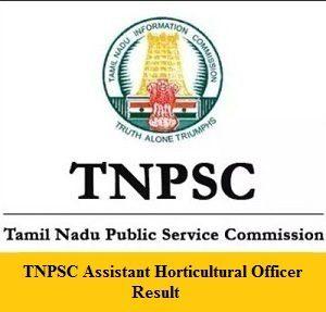 TNPSC AHO Result
