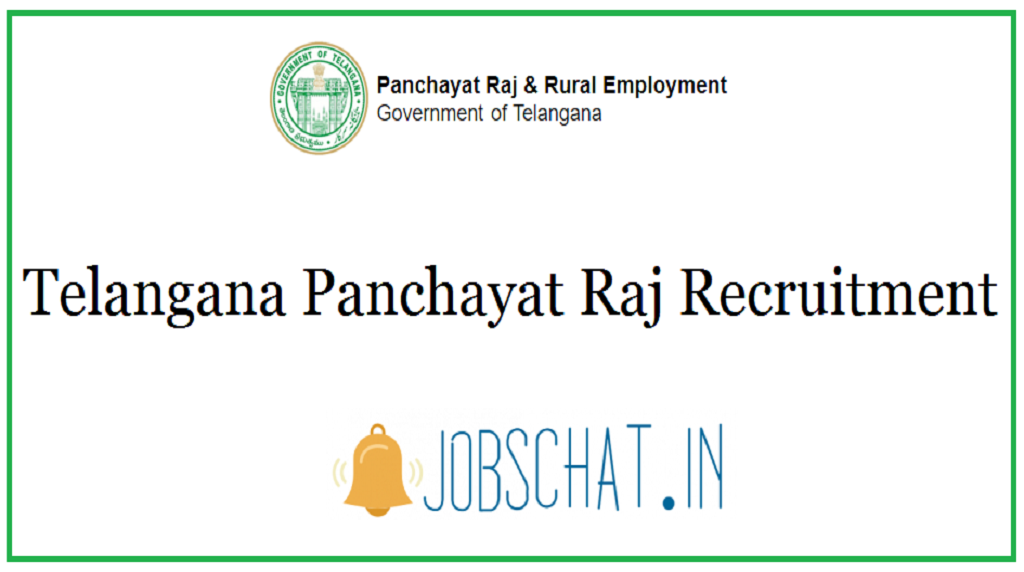 Telangana Panchayat Raj Recruitment