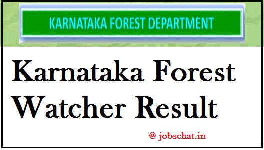Karnataka Forest Watcher Result