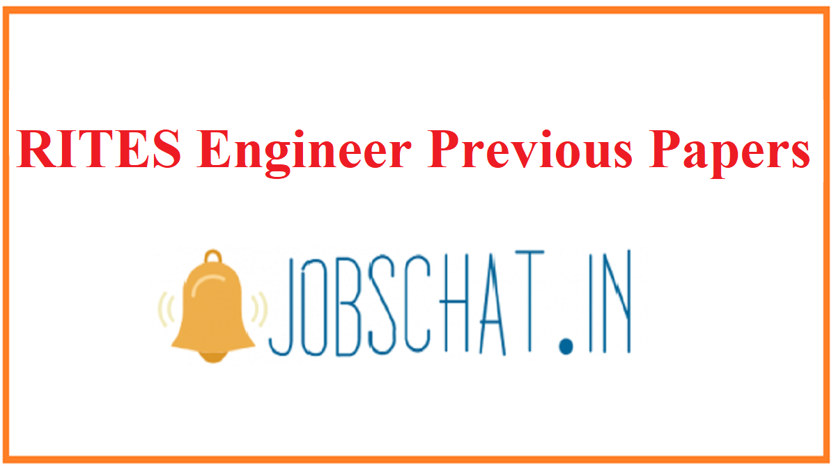 RITES Engineer Previous Papers