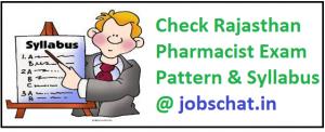Rajasthan Pharmacist Syllabus