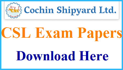Cochin Shipyard Previous Papers