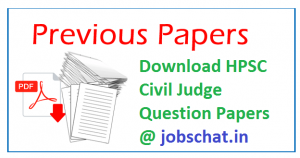 HPSC Civil Judge Previous Papers