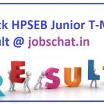 HPSEB Result 2018    Check Himachal Pradesh Junior Helper & Junior T-Mate Merit List @ www.portal.hpseb.in