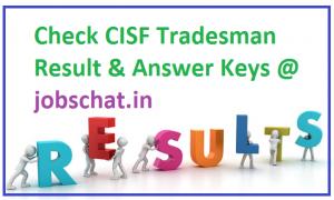 CISF Tradesman Result