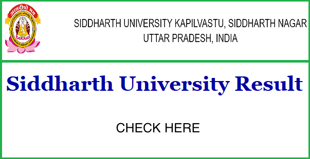Siddharth University Results