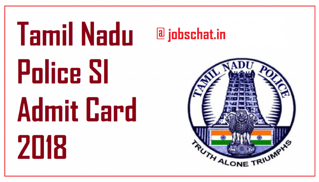 Tamil Nadu Police SI Hall Ticket