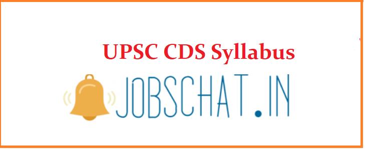 UPSC CDS Syllabus