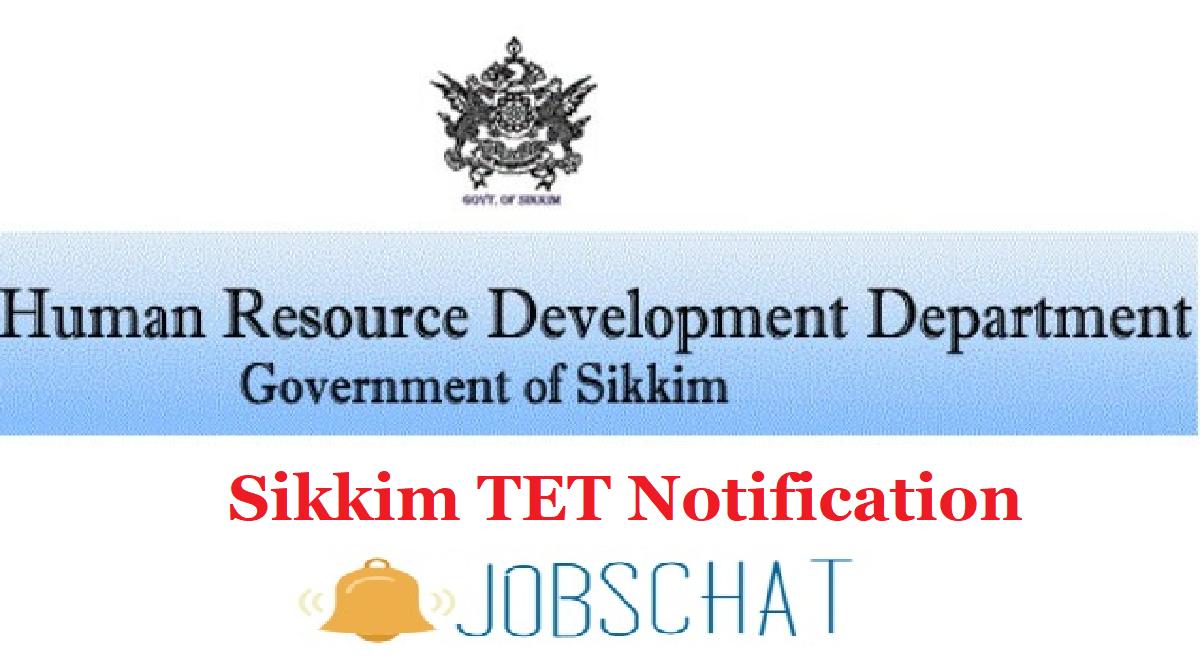 Sikkim TET Notification